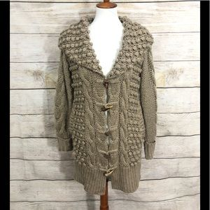 Sundance Cardigan Duster Wool Blend thick chunky
